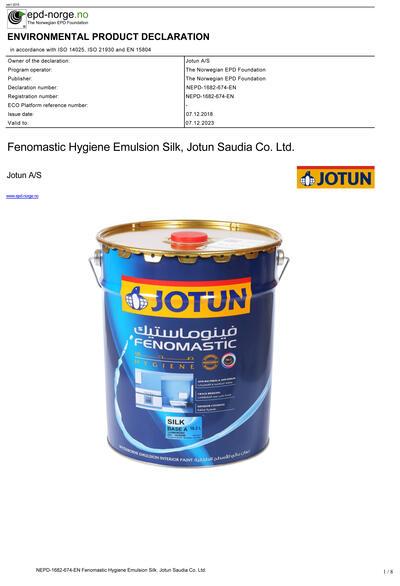 JOTUN Industri Grunning Visir, Jotun A/S, Marked
